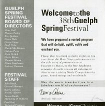 Image of Message of Welcome, Barrie Cabena, Artistic Director, p.3