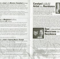 Image of Artist and Musicians in Residence, p.5