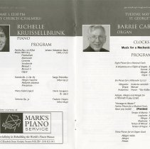 Image of Richelle Kruissellbrink, piano; Barrie Cabena, organ, pp.20-1