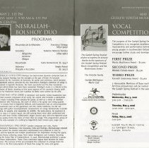 Image of Nesrallah-Bolshoy Duo Concert; Vocal Competition, pp.24-5