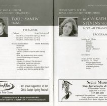 Image of Todd Yaniw, piano; Mary-Kathryn Stevens, viola, pp.26-7