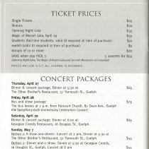 Image of Ticket Prices; Concert Packages, p.42