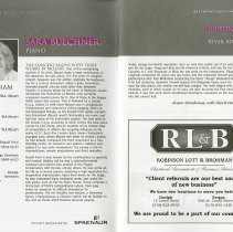 Image of Sara Buechner, piano, pp.6-7