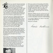 Image of Message from President, Edward Johnson Music Foundation, p.4