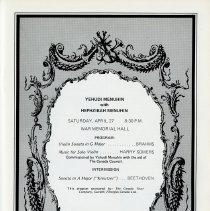 Image of Yehudi Menuhin Concert, p.7