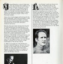 Image of Yehudi Menuhin; Harry Somers, p.8