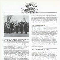 Image of CBC at Guelph Spring Festival; Canadian Brass, p.20