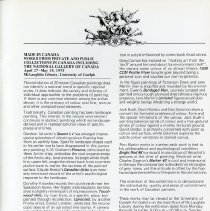 Image of Made in Canada Exhibit by Judith Nasby, curator of art,  p.37