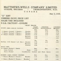 Image of Matthew Wells Price List - Page 8