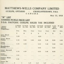 Image of Matthew Wells Price List - Page 2
