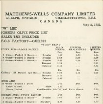 Image of Matthew Wells Price List - Page 4