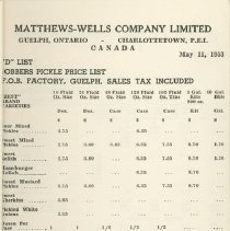 Image of Matthew Wells Price List - Page 6