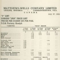 Image of Matthew Wells Price List - Page 7
