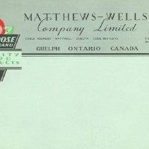 Image of Matthew-Wells Company Letterhead
