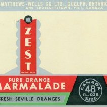 Image of Matthew Wells Pure Marmalade Label - Front