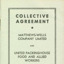 Image of Matthew Wells Collective Agreement Booklet