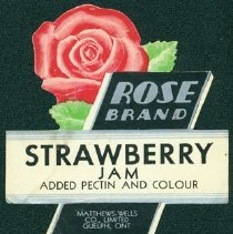 Image of Matthew-Wells Strawberry Jam Label