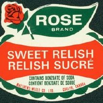 Image of Matthew-Wells Sweet Relish Label
