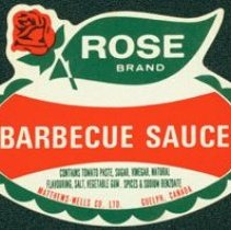 Image of Matthew-Wells Barbecue Sauce Label