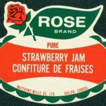 Image of Matthew-Wells Strawberry Jam Label