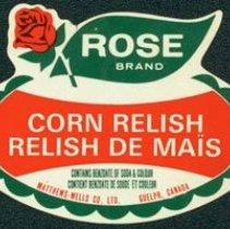 Image of Matthew-Wells Corn Relish Label