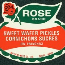 Image of Matthew-Wells Sweet Wafer Pickles Label
