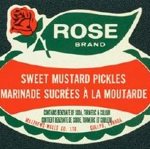 Image of Matthew-Wells Sweet Mustard Pickles Label