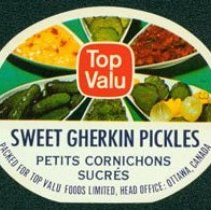 Image of Matthew-Wells Sweet Gherkin Pickles Label
