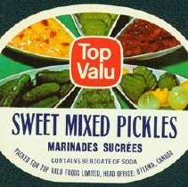 Image of Matthew-Wells Sweet Mixed Pickles Label