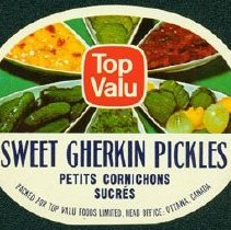 Image of Matthew-Wells Sweet Gherkin Pickles Label