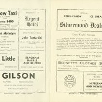Image of The Ghost Train Program From 1937 - Pages 1 & 2