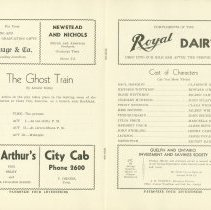 Image of The Ghost Train Program From 1937 - Pages 3 & 4
