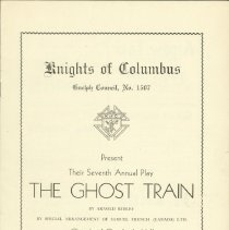 Image of The Ghost Train Program From 1937 - Front