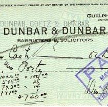 Image of 2009.50.2 - Check, Bank