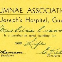 Image of Alumnae Card St. Joesph's Hospital