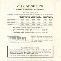 Image of Summary of 1967 Budget and Tax Rates