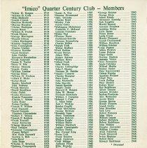 Image of Quarter Century Club Dinner November, 1971