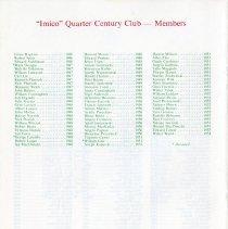 Image of Quarter Century Club Dinner November, 1979