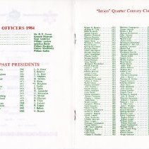 Image of Quarter Century Club Dinner November, 1984
