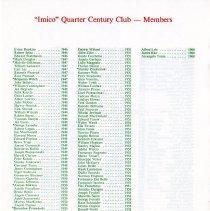 Image of Quarter Century Club Dinner November, 1985