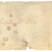 Image of Envelope to Capt. McCrae