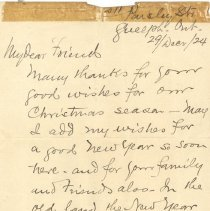Image of Letter from David McC 1924
