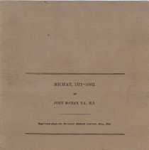 Image of Pamphlet Bichat titlepage