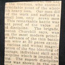 Image of Boer War Ledger Loose clipping