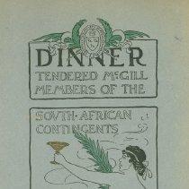 Image of Dinner Menu