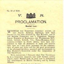 Image of M1968X.251.1 - Proclamation