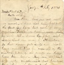 Image of Letter, D. McC to William p1