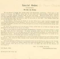 Image of Special Orders to the 1st Army