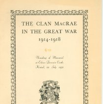 Image of The clan MacRae