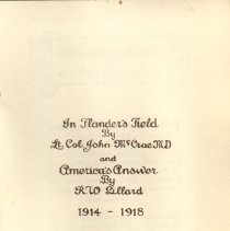 Image of Pamphlet title page